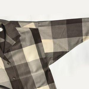 bold, big shirt by Christian Dior, large checks